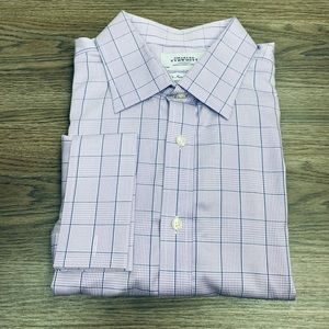 Charles Tyrwhitt Purple & Navy Plaid Shirt 18-36